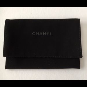 Chanel 6x4 black Velvet Dustbag Pouch Case